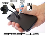 CasePlug- iPhone Mount, Charging, Syncing & Kickstand in 4mm