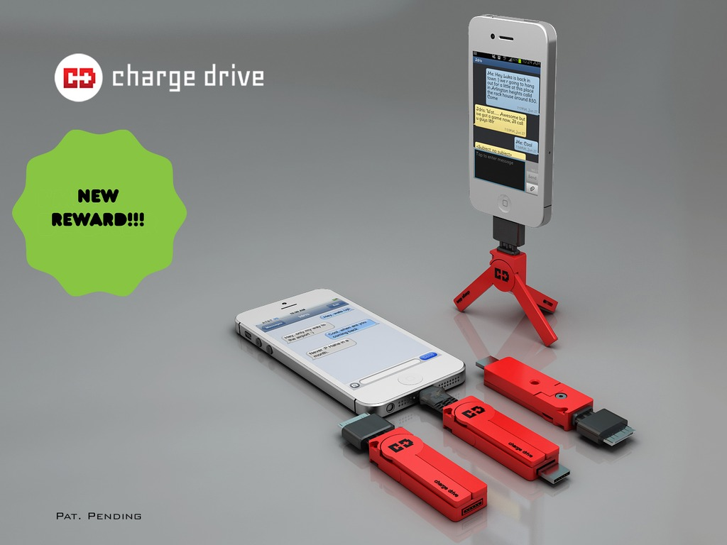 ChargeDrive: A Charger Cable, Flash Drive, and Tripod Mount!'s video poster