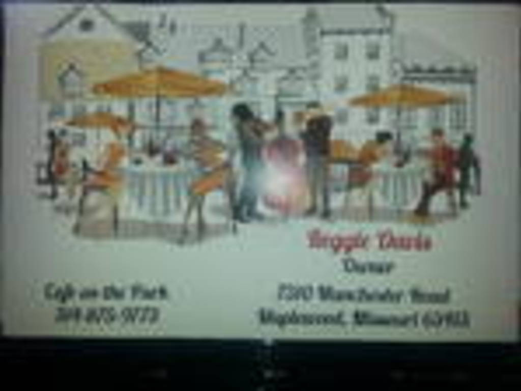 Cafe on the Park's video poster