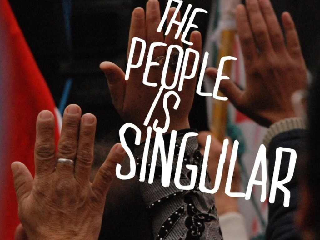 The People is Singular's video poster