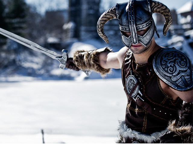 Cap Santiago, a cosplayer, dressed as Dovakhiin from Skyrim