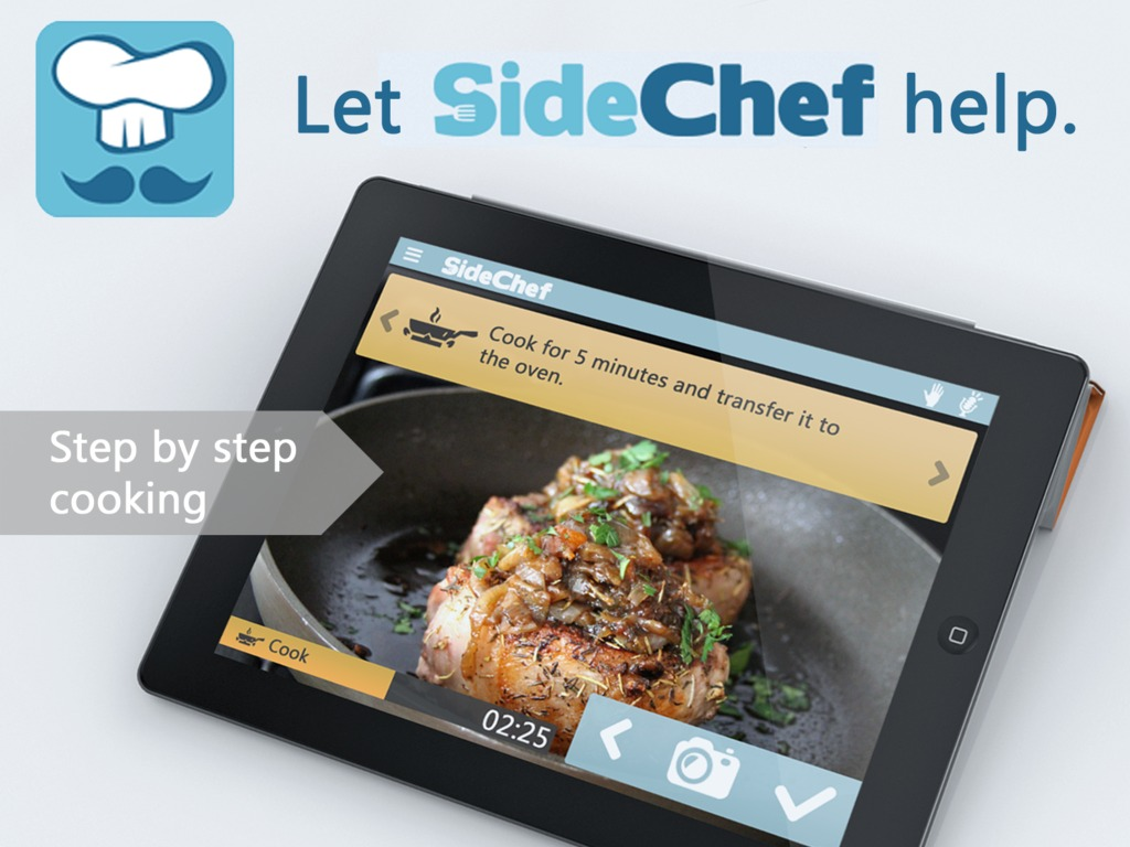 SideChef: A Step-by-step cooking application.'s video poster