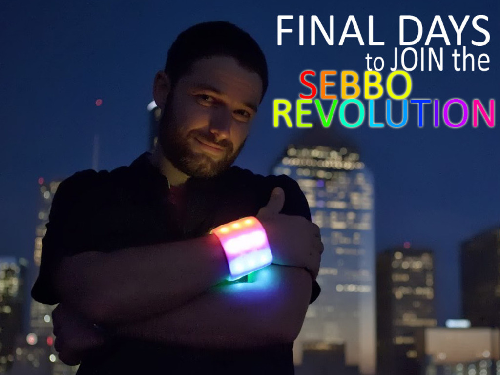The Sebbo - A Bright and Colorful Rechargeable LED Wristband's video poster