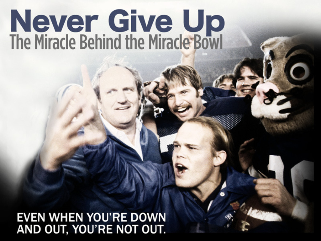 Never Give Up: The Miracle Behind the Miracle Bowl's video poster