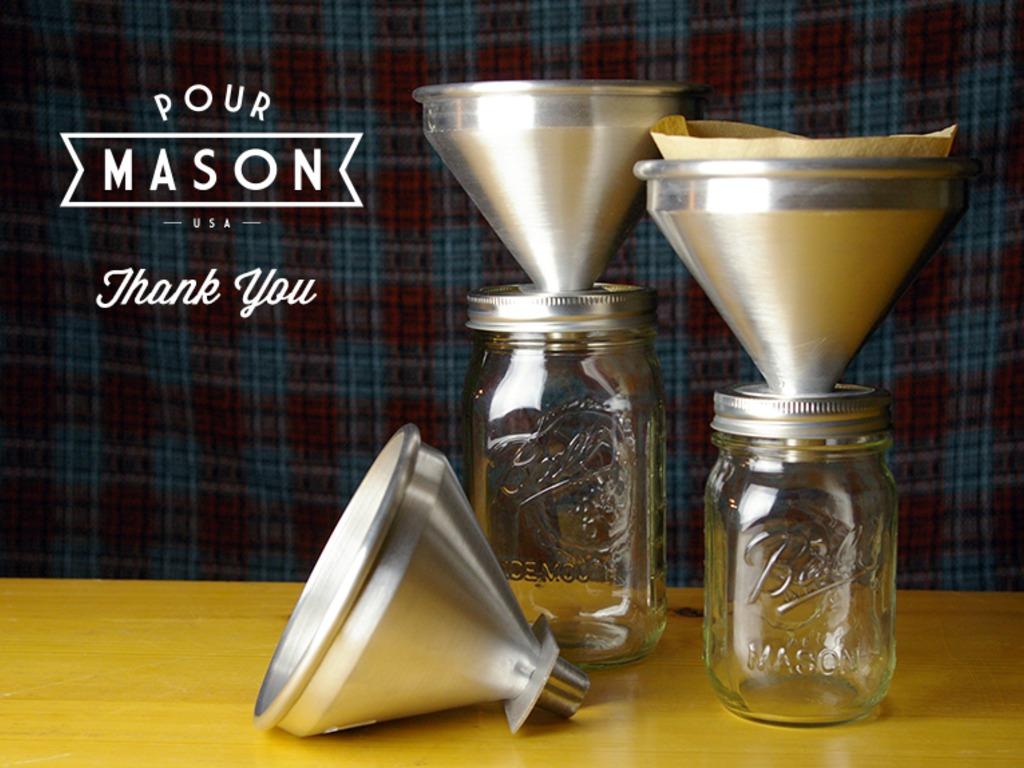 Pour Mason :: Pour Over Coffee Attachment for Mason Jars's video poster