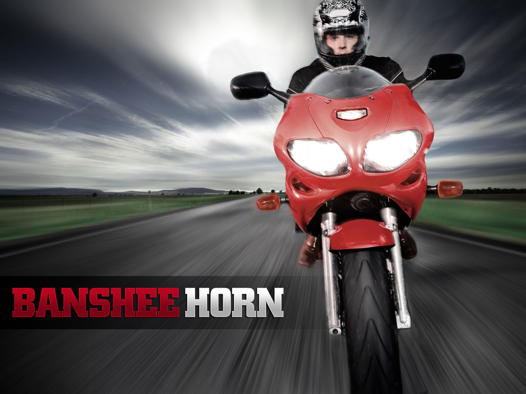 BansheeHorn - warning system for Motorcycles, Cars & Boats's video poster
