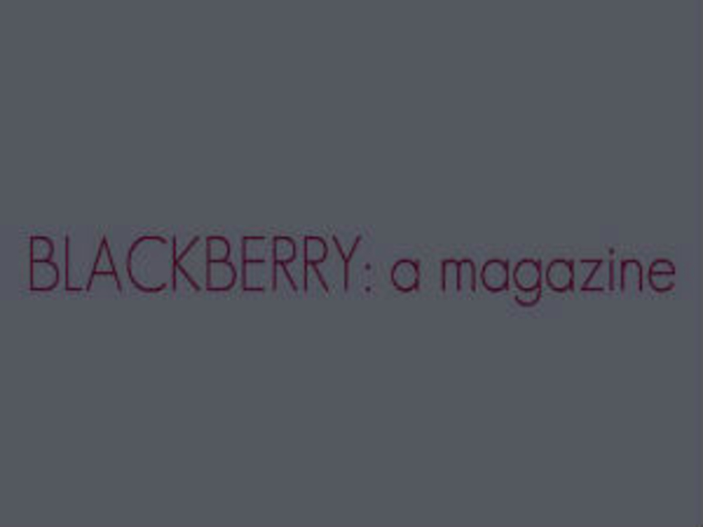 BLACKBERRY: a magazine's video poster