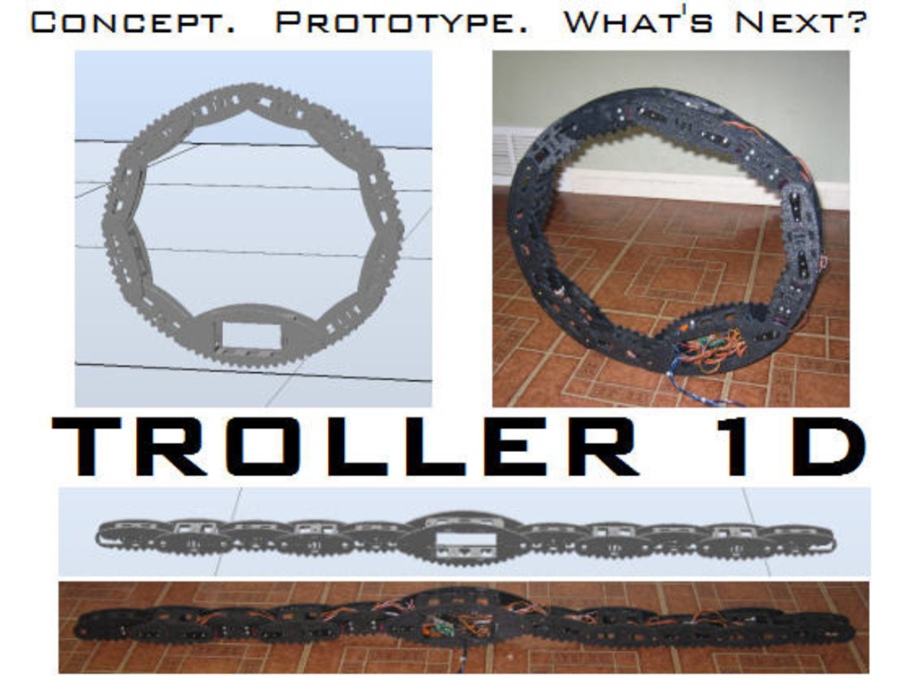 TROLLER 1D ...A Self-Rolling Robot's video poster