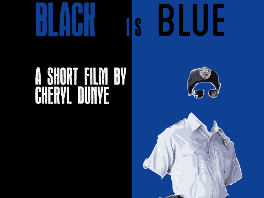 BLACK IS BLUE---a new short film by Cheryl Dunye's video poster