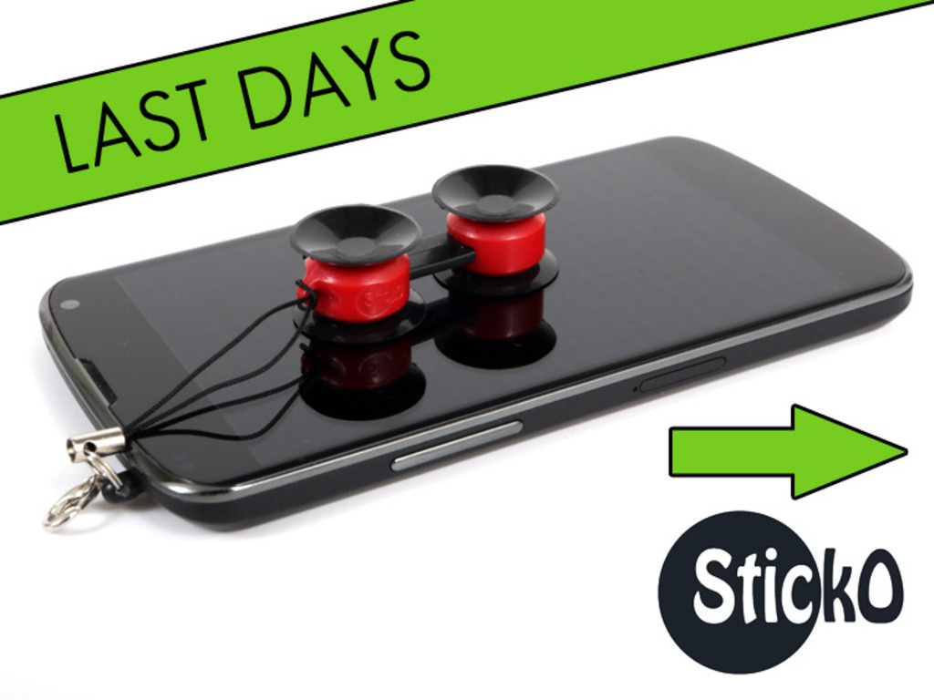 STICKO, a tiny sticky phone mount's video poster
