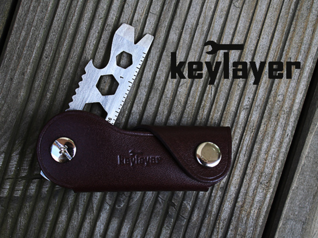 keylayer - Multi-tools in Leather keycase (Canceled)'s video poster