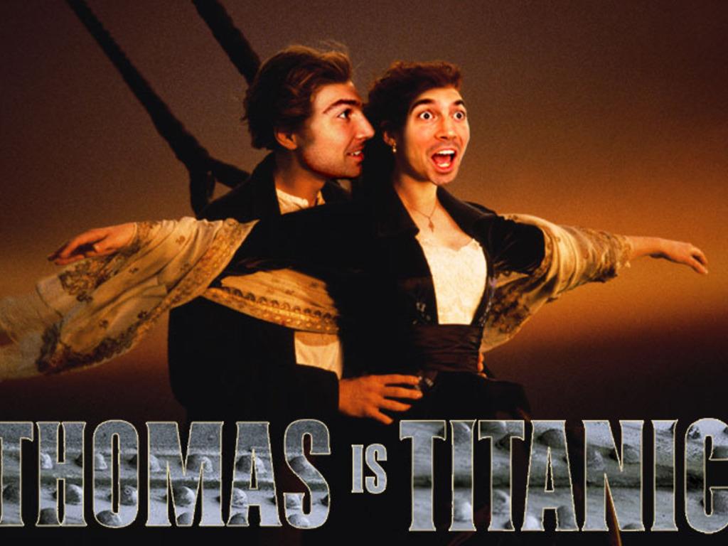 Thomas is Titanic's video poster