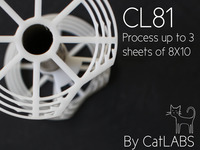 CL81 - an 8X10 sheet film processing reel