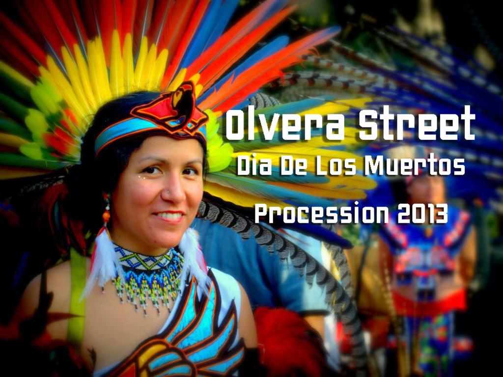 """Olvera Street, Los Angeles """"Dia De Los Muertos"""" Procession.'s video poster"""