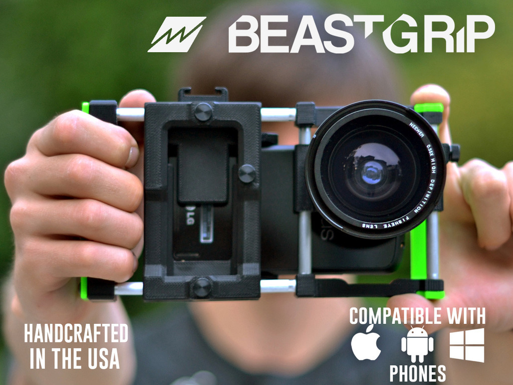 Beastgrip. Universal lens adapter for most camera phones's video poster
