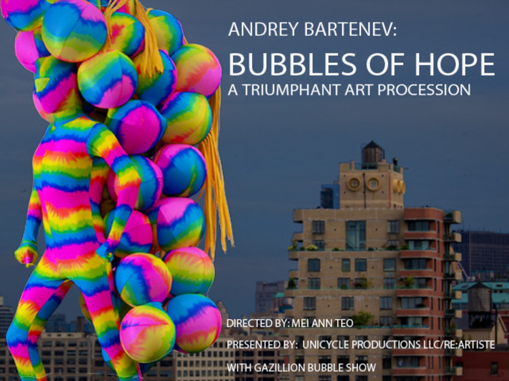 BUBBLES OF HOPE by Andrey Bartenev, Dumbo Arts Festival's video poster