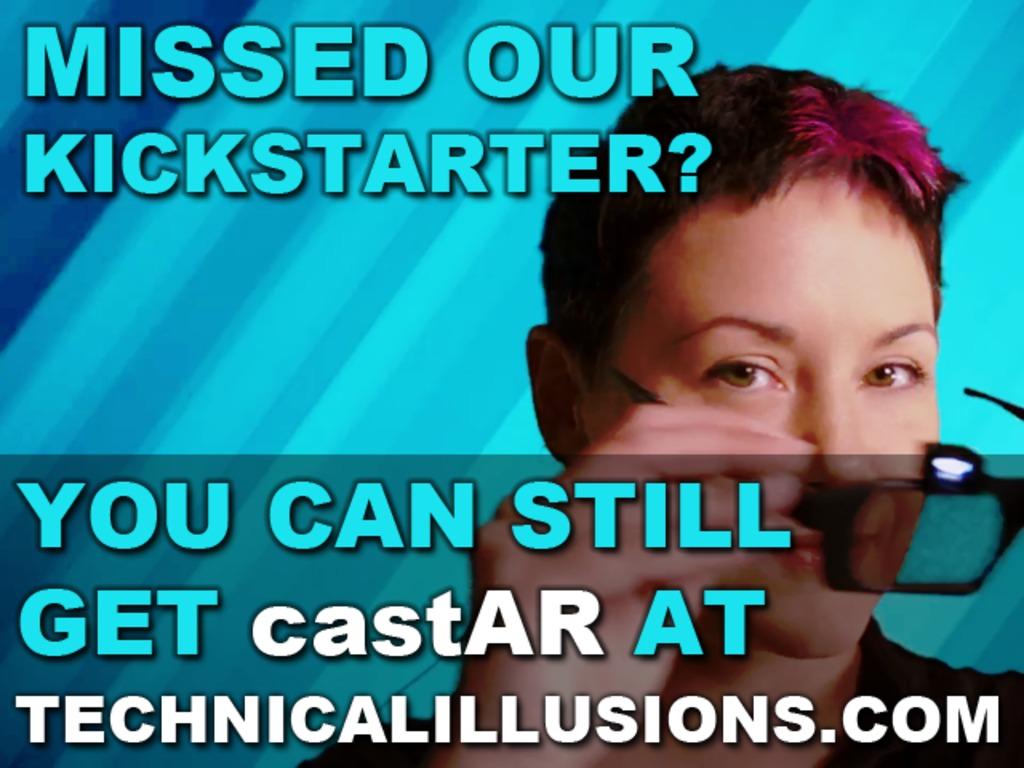 castAR: the most versatile AR & VR system's video poster