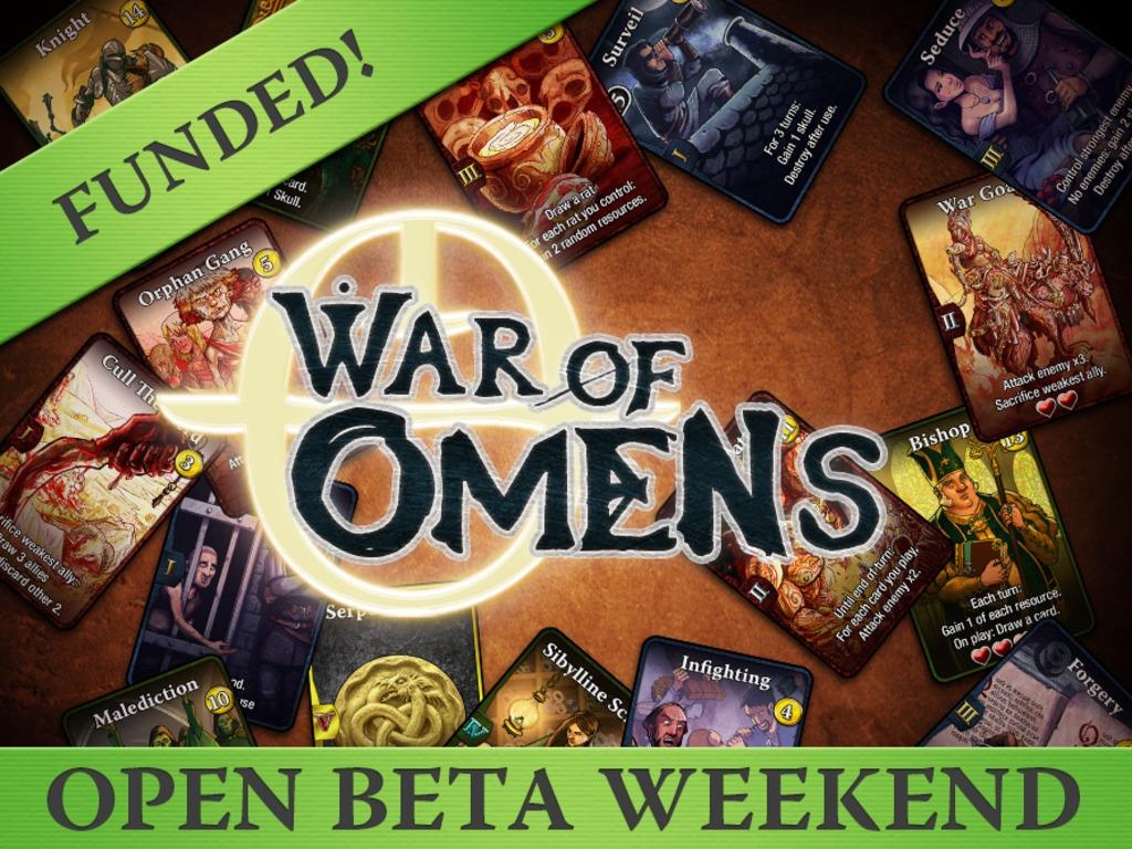 War of Omens - A Digital Deck-Builder/CCG, BACKER BETA LIVE!'s video poster