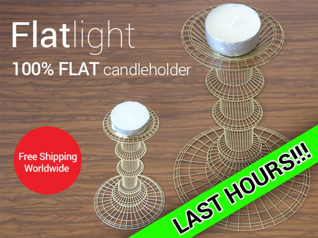 Flatlight - 2D/3D optical illusion candle holder's video poster