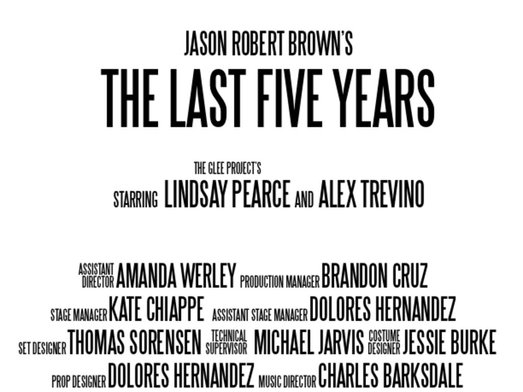 THE LAST FIVE YEARS's video poster