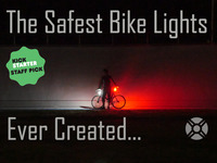 The Safest & Brightest 360° Bike Lights; Made in the USA
