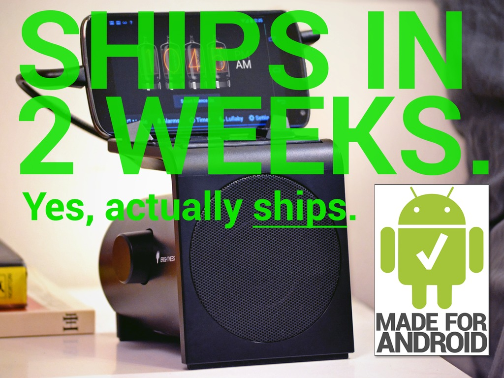 Hale Dreamer: Get more sleep with a smart Android alarm dock's video poster