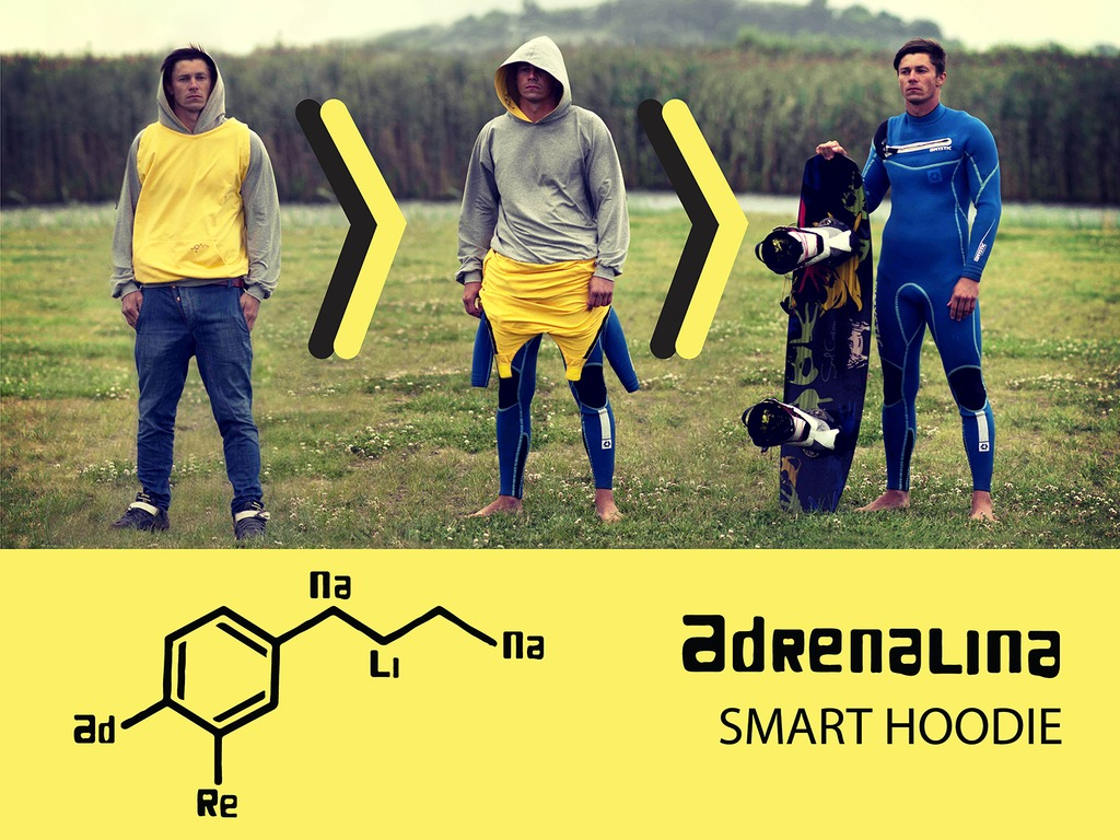 ADRENALINA SMART HOODIE_ Get changed anywhere!'s video poster