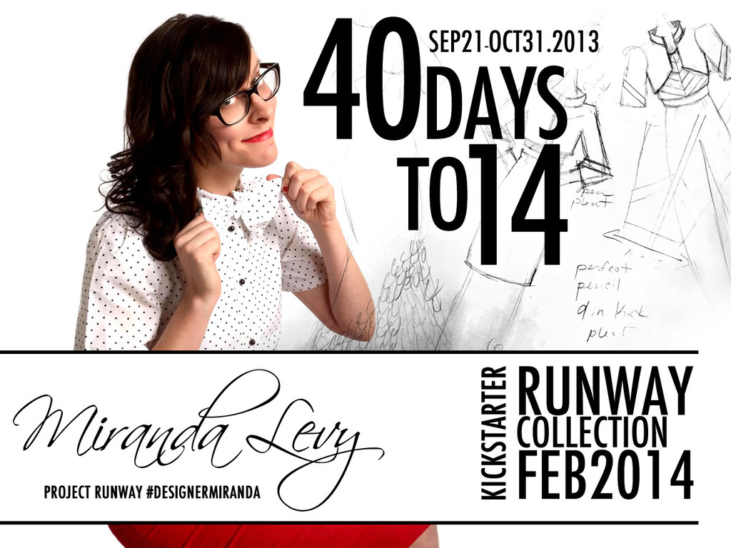 Miranda Levy of Project Runway 2014 Collection's video poster