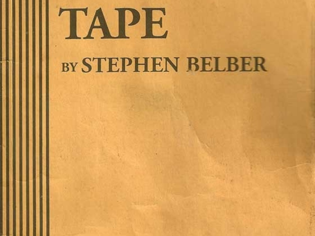 """""""TAPE"""" by Stephen Belber's video poster"""
