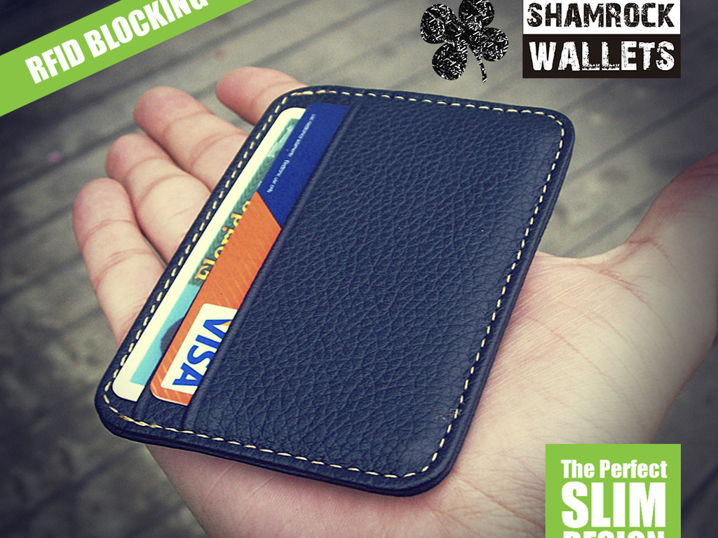 ShamrockWallets™ The Perfect Slim Leather Wallets's video poster