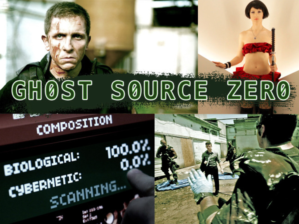 Epic cyberpunk action, Ghost Source Zero's video poster