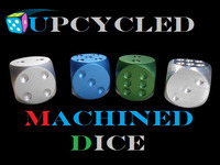 UPCYCLED MACHINED DICE: Machined Metal Gaming Dice