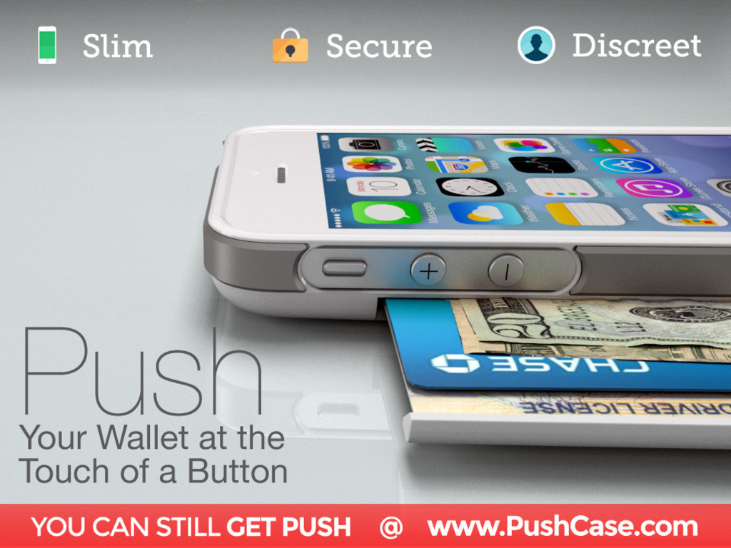 PUSH: Your Wallet at the Touch of a Button iPhone 5, 5S, 5C's video poster