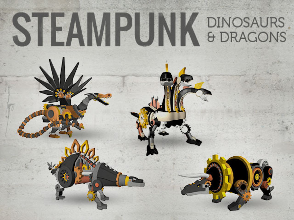 Steampunk Dinosaurs & Dragons - 3D Printed's video poster