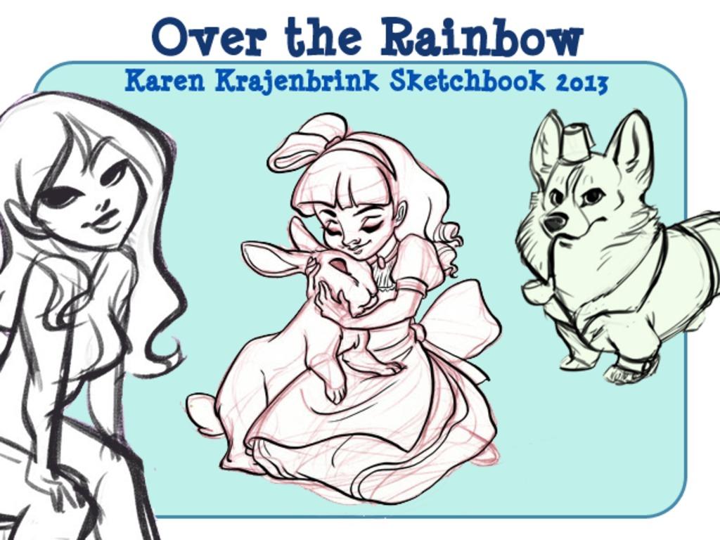 Over the Rainbow: A Sketchbook by Karen Krajenbrink's video poster