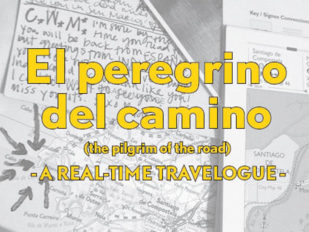 A postcard-based travelogue of the Camino de Santiago's video poster