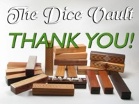 The Dice Vault: A Handcrafted Wooden Case for Gaming Dice