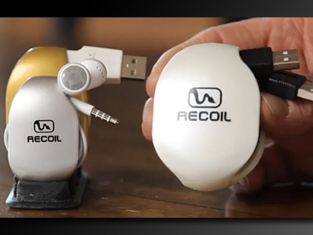 Recoil Winders - Cord storage for iPhone, iPad, iPod & More!'s video poster