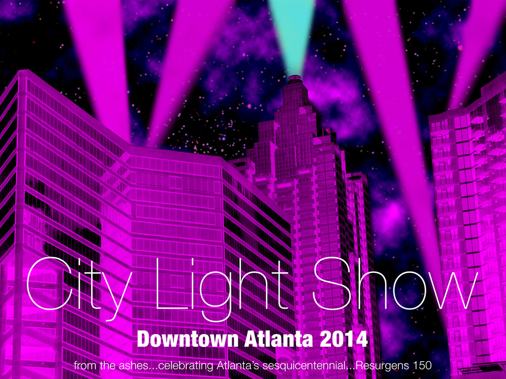 City Light Show Downtown Atlanta GA Woodruff Park (Canceled)'s video poster