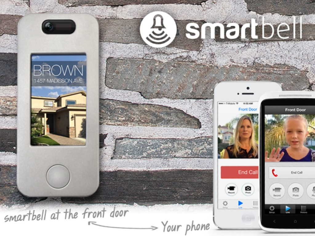 smartbell: Wi-Fi doorbell for video chats to iOS and Android's video poster