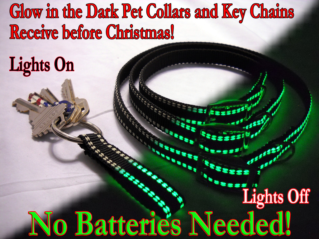 WEE-GLO Glow In The Dark Pet Collars, Key Chains and More!'s video poster