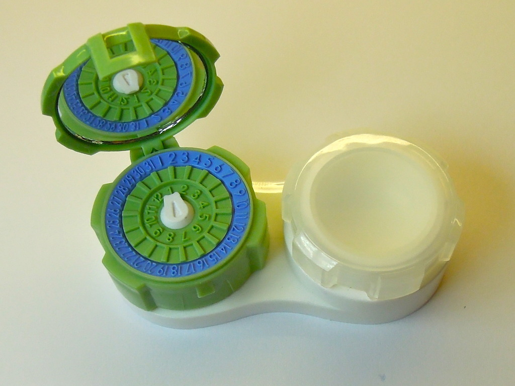 Contact lens case for the 21st Century's video poster