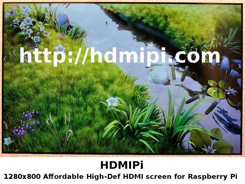 "HDMIPi Affordable 9"" High-Def screen for the Raspberry Pi's video poster"