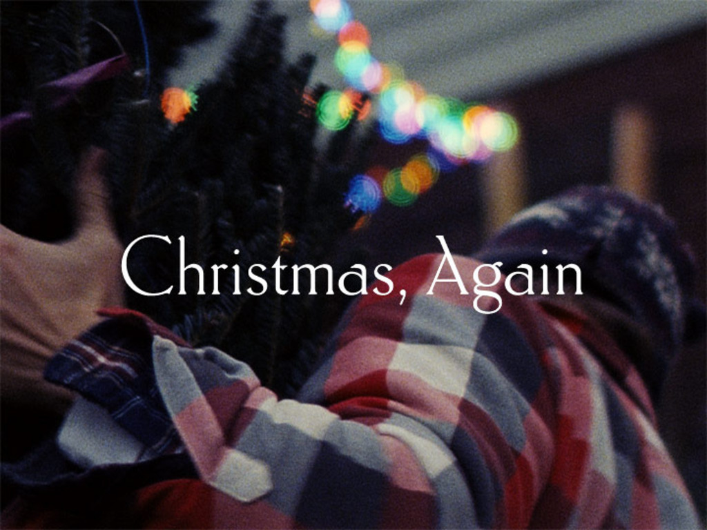 Christmas, Again's video poster