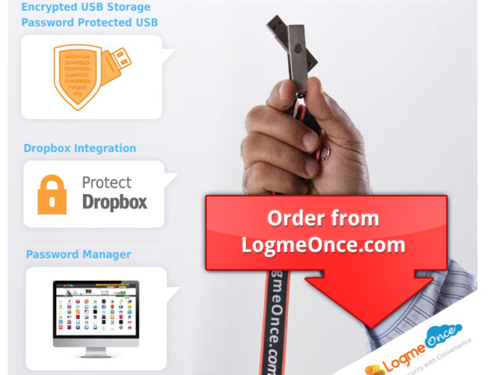 LogmeOnce: The most Secure USB + Password Manager's video poster