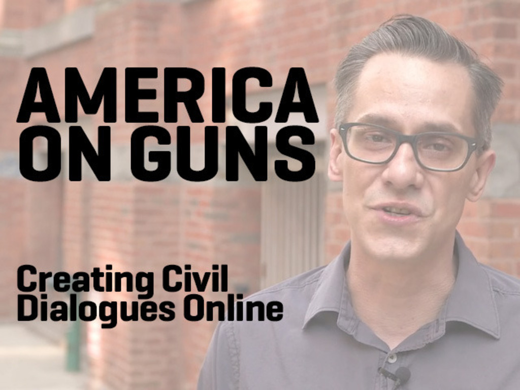 America On Guns. Creating civil dialogues online.'s video poster
