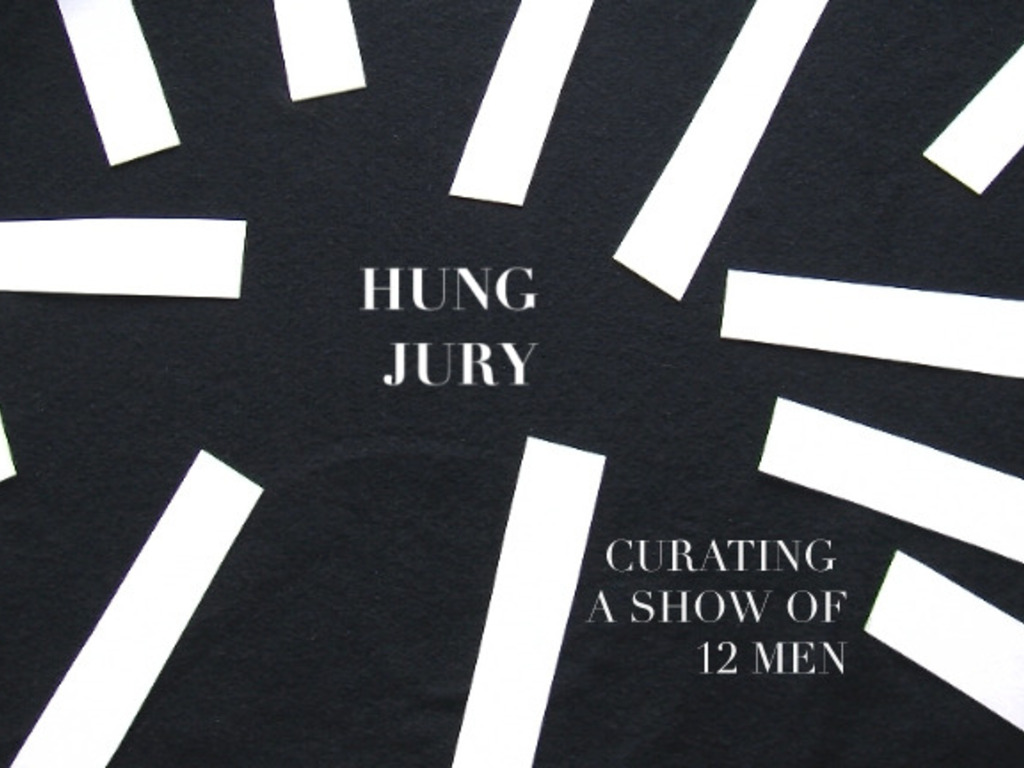 HUNG JURY: Curating a Show of 12 Men's video poster