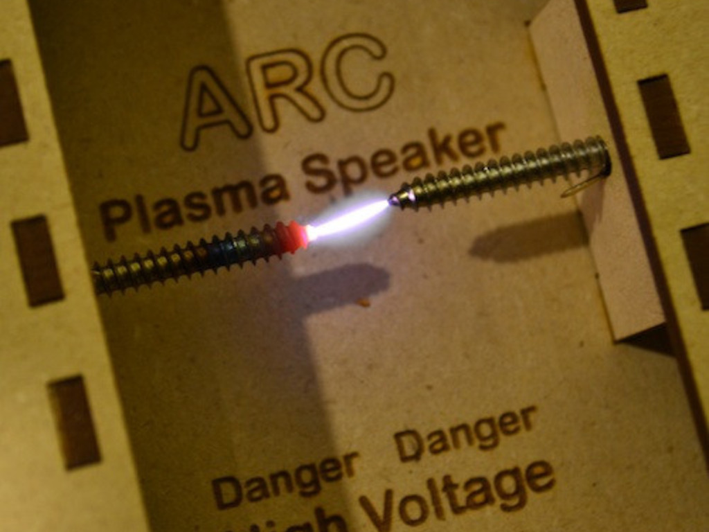 The ARC Plasma Speaker's video poster