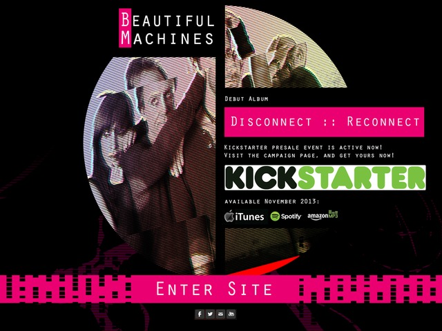 Beautiful Machines Debut Album Launch Disconnect Reconnect by Beautiful Machines Kickstarter