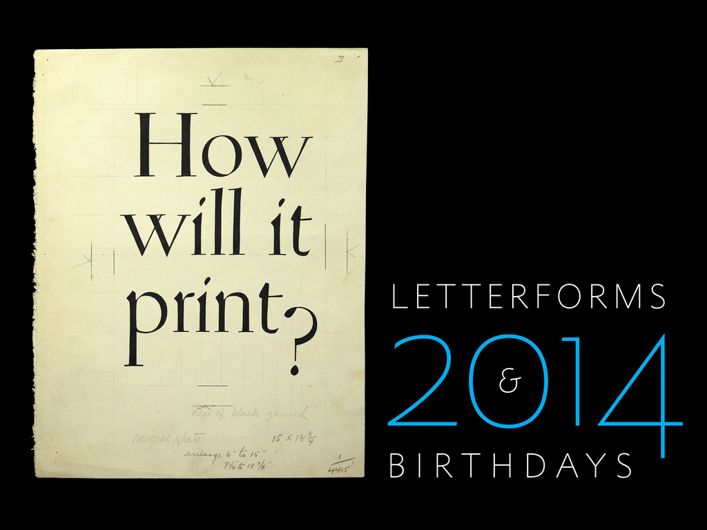 Letterforms & Birthdays 2014 Wall Calendar's video poster